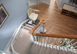 Custom curved stairlifts