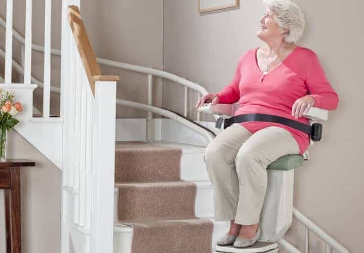 Curved Stairlift Installation Mountain West